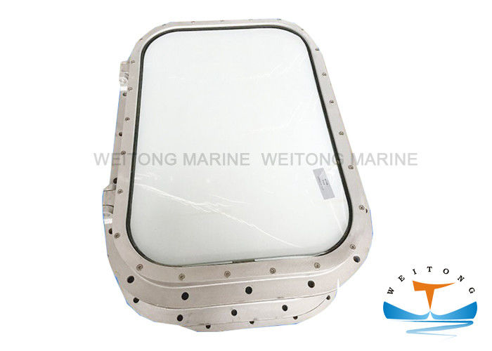 Welded Type Marine Windows For Boats Fixed Hinged Bolted Rectangular Shape