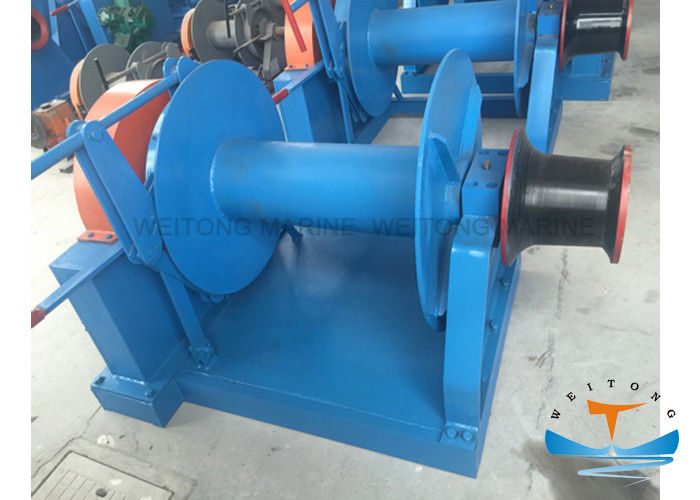 Hydraulic Single Drum Winch , Mooring Winch For Ships Compact Structure Design