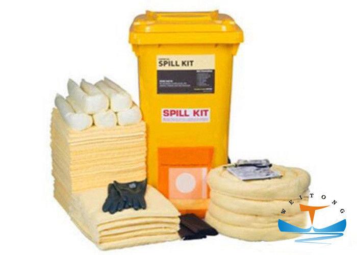 Highly Absorbing Industrial Oil Absorbent Oil Spill Kit 240 Ltr Long Service Life