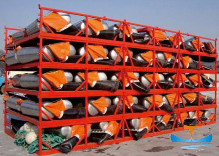 Fire Proof Floating Containment Boom , Oil Booms And Skimmers 2.5m Width