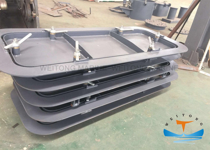 Q235A Steel Marine Watertight Doors Quick Acting 6.8mm Frame Thickness