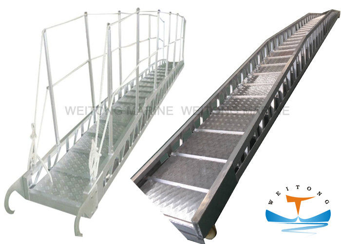 Aluminum Gangway Marine Boat Ladders Steel Wharf Ladder For Seagoing Vessels