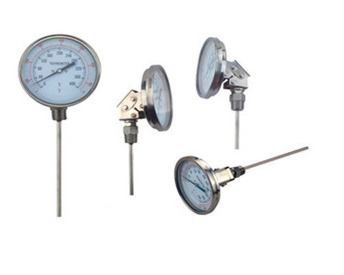 Marine Stainless Steel Bimetallic Remote Reading Thermometer Center Back Male Connection