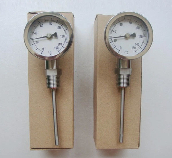 "Radial Remote Reading Thermometer For Industry Inlet Thread 1/2"" 1/4"""